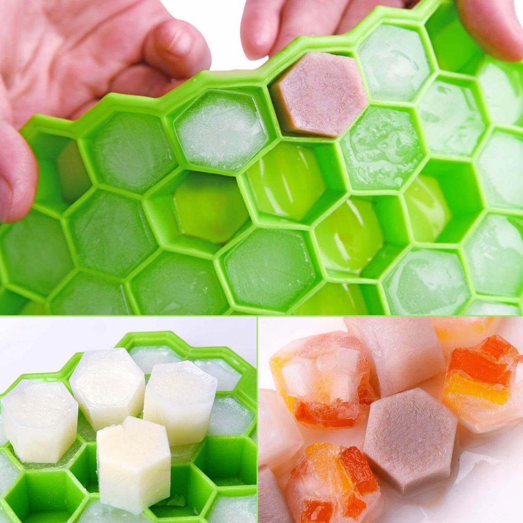 Лотки силиконовые для льда: соты