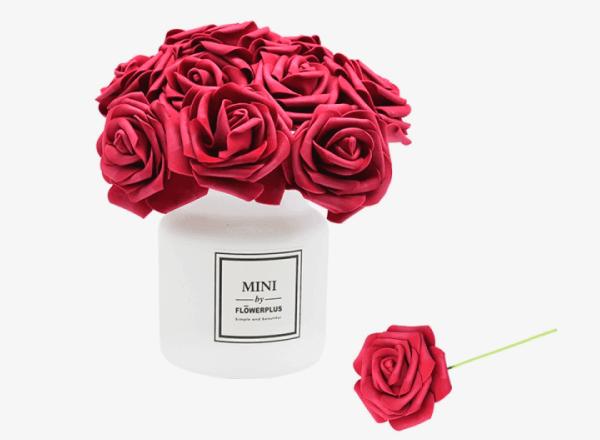 Розы искусственные из фоамирана