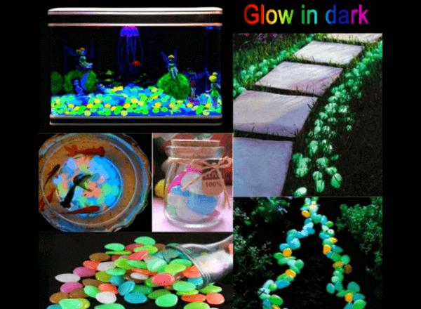 Светящиеся камни для сада и домашнего декора
