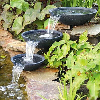 Миниатюрные водопады из чаш