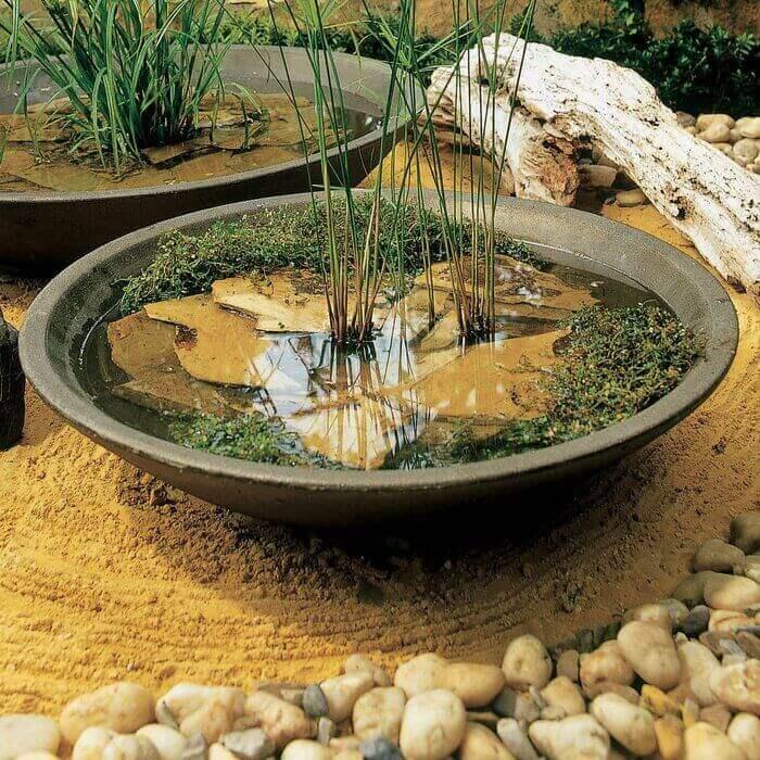 Миниатюрный пруд в чаше