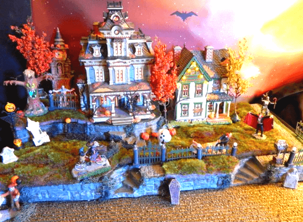 Диорамные интерьерные композиции на Хэллоуин